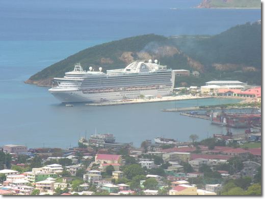 Emerald Princess in St. Thomas