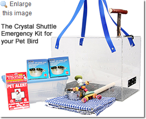 The Crystal Shuttle Emergency Kit for your Pet Bird