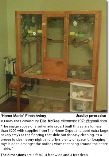 Home Made Finch Cage