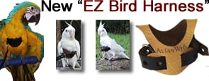 "The Avianweb EZ Bird Harness"" height="