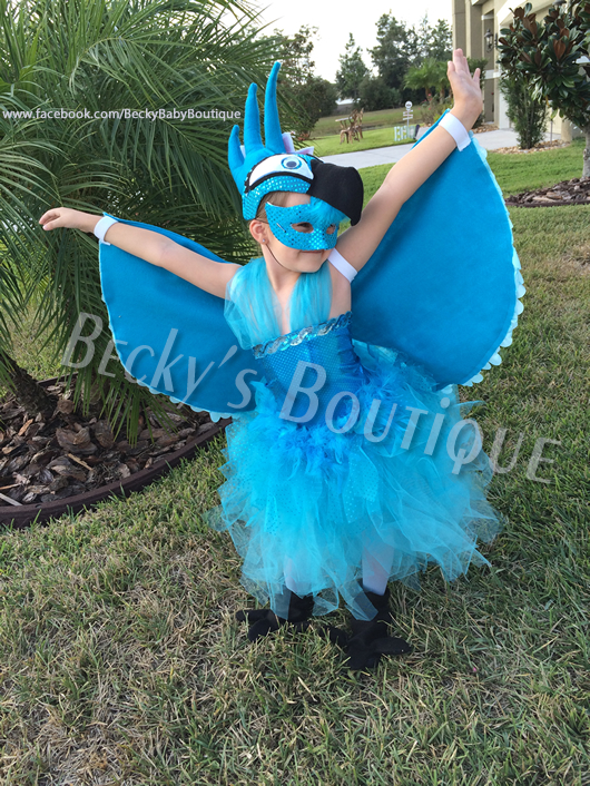 Adorable Blue Macaw Halloween Costume